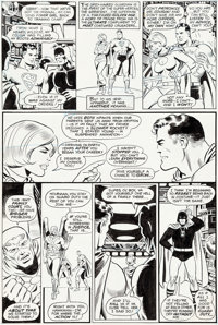 Keith Giffen and Wally Wood All-Star Comics #62 Justice Society of America/Power Girl Original Art (DC, 1976)