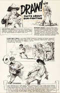 Original Comic Art:Panel Pages, Al Williamson and Frank Frazetta Billy the Kid AdventureMagazine #1 Panel Page Original Art (Toby, 1950)....