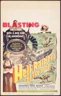 "Movie Posters:War, Hell Raiders of the Deep (I.F.E. Releasing Corporation, 1953).Window Card (14"" X 22""). War.. ..."