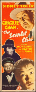 "Movie Posters:Mystery, The Scarlet Clue (Monogram, 1945). Insert (14"" X 36""). Mystery....."