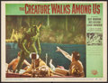 "Movie Posters:Horror, The Creature Walks Among Us (Universal International, 1956). Trimmed Lobby Card (10.75"" X 14""). Horror.. ..."