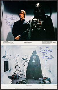"""Star Wars & Other Lot (20th Century Fox, 1977). Autographed Lobby Cards (2) (11"""" X 14""""). Science Fiction..."""