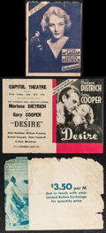 "Movie Posters:Drama, Dishonored & Other Lot (Paramount, 1931). Heralds (3) (12"" X 9"" & 13"" X 9""). Drama.. ... (Total: 3 Items)"
