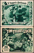"""Movie Posters:Serial, Tim Tyler's Luck (Universal, 1937). Title Lobby Card & Lobby Card (11"""" X 14""""). Chapter 5 --""""Trapped in the Quicksands."""" Seri... (Total: 2 Items)"""