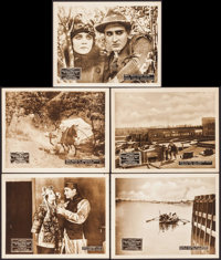 """The Woman in the Web (Vitagraph, 1918). Lobby Cards (5) (11"""" X 14"""") Episodes 4, 6, 8, 12 &14. Serial..."""
