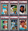 Baseball Cards:Lots, 1960's - 1980's Baseball Hall of Famers PSA-Graded Collection(6)....