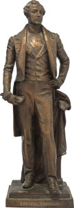 Political:3D & Other Display (1896-present), Stevens T. Mason: Bronze Statue of the First Governor of Michigan. ...