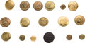 Political:Tokens & Medals, William Henry Harrison: Collection of Seventeen Log Cabin Clothing Buttons...