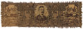 Political:Textile Display (1896-present), Theodore Roosevelt: Woven Throw-on Table Cover with Cowboy Motif....
