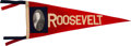 Political:Textile Display (1896-present), Theodore Roosevelt: Red, White and Blue Portrait Pennant....