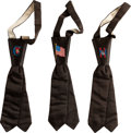 Political:Textile Display (pre-1896), Grover Cleveland and Benjamin Harrison: Set of Three SatinNeckties.... (Total: 3 Items)