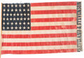 Political:Textile Display (pre-1896), Grover Cleveland: 1892 Name Flag....