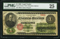 Large Size:Legal Tender Notes, Fr. 17a $1 1862 Legal Tender PMG Very Fine 25....