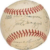 1951 New York Yankees Team Signed Baseball, PSA EX-MT+ 6.5 from the Casey Stengel Collection