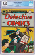 Golden Age (1938-1955):Superhero, Detective Comics #80 Double Cover (DC, 1943) CGC Conserved VF- 7.5 Off-white pages....