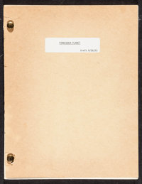 """Forbidden Planet (MGM, c.1970s). Reproduction Script Draft (112 Pages, 8.5"""" X 11"""") . Science Fiction"""