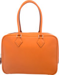Luxury Accessories:Bags, Hermes 28cm Orange H Swift Leather Plume Bag with PalladiumHardware. I Square, 2005. Condition: 3