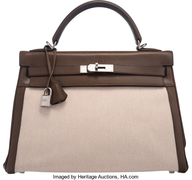 c699ff2953e luxury hermes cm vert olive barenia leather and toile retourne kelly  bagwith with vert olive