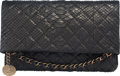 "Luxury Accessories:Bags, Chanel Black Quilted Python Medallion Charm Fold Over Clutch.Condition: 2. 10.5"" Width x 6.5"" Height x 1.25"" Depth.Prope..."
