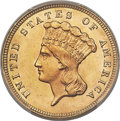 Three Dollar Gold Pieces, 1879 $3 MS64 PCGS. CAC....