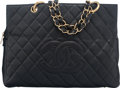 "Luxury Accessories:Bags, Chanel Black Caviar Leather Timeless Grand Shopping Tote with GoldHardware. Condition: 3. 13"" Width x 9"" Height x 6.25"" D..."