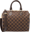 "Luxury Accessories:Bags, Louis Vuitton Damier Ebene Canvas Speedy 25 Bandouliere Bag.Condition: 1. 10"" Width x 7.5"" Height x 6"" Depth"