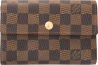 "Louis Vuitton Ebene Damier Canvas Alexandra Wallet Condition: 3 6"" Width x 4"" Height x 1.25"" Dept"