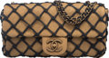 "Luxury Accessories:Bags, Chanel Dark Gold Calfskin Canebier Medium Flap Bag with GoldHardware. Condition: 3. 10"" Width x 5"" Height x 2..."