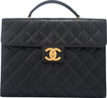 "Luxury Accessories:Bags, Chanel Black Caviar Leather Maxi Briefcase with Gold Hardware.Condition: 4. 14.5"" Width x 11"" Heig..."