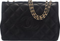 Luxury Accessories:Bags, Chanel Black Quilted Lambskin Flap Bag with Gold Hardware