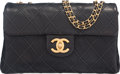 "Luxury Accessories:Bags, Chanel Black Quilted Lambskin Accordion Flap Bag with GoldHardware. Condition: 3. 9.5"" Width x 6"" Height x 1.5"" Depth.Pr..."