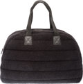 "Chanel Black Terry Cloth Beach Bowler Bag and Beach Towel Condition: 2 18"" Width x 11.5"" Height x 7"" Dept..."