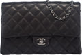 """Luxury Accessories:Bags, Chanel Black Quilted Lambskin Clutch Flap Bag with RutheniumHardware. Condition: 3. 11"""" Width x 7"""" Height x 1.5""""Dept..."""