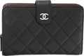"Luxury Accessories:Accessories, Chanel Black Quilted Lambskin Bifold Wallet with Coin Pouch.Condition: 4. 6"" Width x 4"" Height x 1"" Depth. Property of a..."
