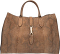 Luxury Accessories:Bags, Gucci Limited Edition Tan Python Soft Jackie Tote Bag