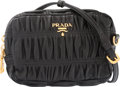 "Luxury Accessories:Bags, Prada Black Nappa Leather Mini Gaufre Shoulder Bag. Condition:3. 6"" Width x 4"" Height x 2.25"" Depth. Proper..."
