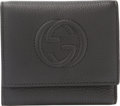 "Luxury Accessories:Accessories, Gucci Black Calfskin Leather Tri-Fold Wallet. Condition: 3. 4.5"" Width x 4"" Height x 1"" Depth. Property of a Lady. ..."