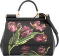 "Luxury Accessories:Bags, Dolce & Gabbana Dauphine Tulip Print Medium Miss Sicily Bag.Condition: 1. 10"" Width x 7.75"" Height x 4.5"" Depth.Property..."
