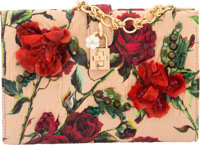 "Dolce & Gabbana Roses Jacquard Clutch Bag Condition: 3 8"" Width x 5.5"" Height x 2"" Depth Property of..."