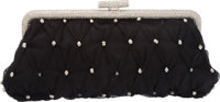 "Valentino Black Mesh and Crystals Clutch Bag Condition: 3 9.5"" Width x 4.25"" Height x 2"" Depth Property o..."