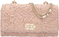"Luxury Accessories:Bags, Valentino Blush Pink Leather and Lace Griello Flap Bag. Condition: 3. 9.5"" Width x 5.5"" Height x 2.5"" Depth. Property of a..."