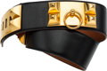 "Luxury Accessories:Accessories, Hermes 70cm Black Calf Box Leather Collier de Chien Belt with GoldHardware. Circa 1990's. Condition: 4. 2"" Width..."