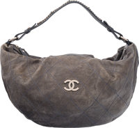 "Chanel Gray Quilted Caviar Leather Shoulder Bag Condition: 4 17"" Width x 10"" Height x 5"" Depth"