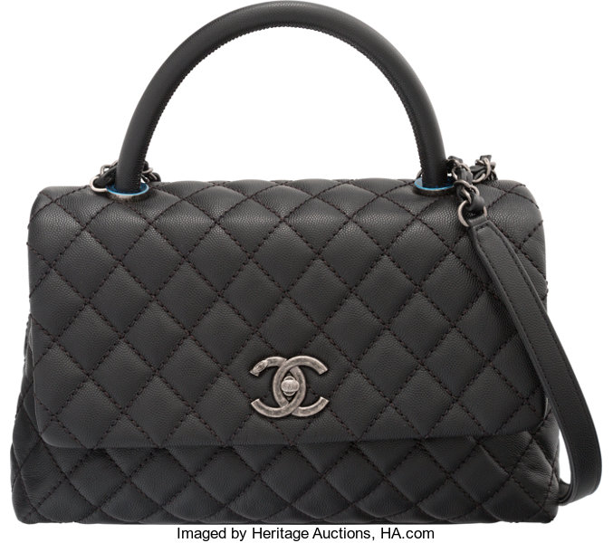 2410f616d96 Condition: 2; Luxury Accessories:Bags, Chanel Black Caviar Leather Coco  Handle Bag.