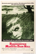 "Memorabilia:Poster, Frankenstein and the Monster from Hell (Paramount, 1974).One Sheet (27"" X 41""). ..."