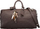 "Louis Vuitton x EDUN Limited Edition Brown Monogram Revelation Leather Keepall 45 Bag by Bono Condition: 3 18"" Widt..."