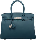 Luxury Accessories:Bags, Hermes 30cm Colvert Togo Leather Birkin Bag with PalladiumHardware. T, 2015. Condition: 1