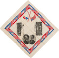 Political:Textile Display (1896-present), Theodore Roosevelt: Unusual Silk Handkerchief with Panama Canal Motifs....