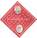 "Political:Textile Display (1896-present), Theodore Roosevelt: ""We Want Our Teddy Back"" Bull Moose Bandana...."