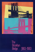 Fine Art - Work on Paper:Print, Andy Warhol (1928-1987). The Brooklyn Bridge Poster, 1983.Screenprint in colors on paper. 23-1/2 x 16-1/2 inches (59.7 ...